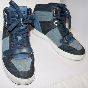 72e2e67e9f76b Michael Kors Shoes - Michael Kors Ollie Blue Denim High Tops